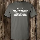 Perfect My Craziness T Shirt -- Clothing Funny Mens Womens Tee Crazy