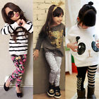 Toddler Kids Baby Girl Outfits Clothes T-shirt Tops+Pants/Shirt Dress/Skirt 2PCS