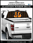 CINCINNATI BENGALS - STAMPED BLACK Window Wrap / Truck Car SUV Decal Sticker NFL