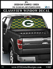 GREENBAY PACKERS - STAMPED GREEN Window Wrap / Truck Car SUV Decal Sticker NFL