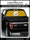 PITTSBURGH STEELERS - STAMPED YELLOW Window Wrap / Truck Car Decal Sticker NFL