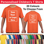 Kyпить Personalised Childrens T Shirts Printed Kids Childs T-Shirt Tee Shirt Photo на еВаy.соm