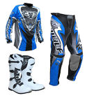 Adults MX Motocross Wulfsport Quad 2017 ATTACK Pant Shirt Boot Blue Set #ATW15
