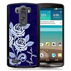 PERSONALIZED RUBBER CASE FOR LG G3 G4 G5 BLUE ROSES
