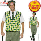 CA147 Mens Old Tyme Golfer Pub Golf Stag Night Fancy Dress Sports Costume Outfit