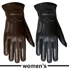 Women Thermal Gloves Soft Lined Winter Ladies MRX Real Leather Full Finger Glove