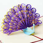 3D Pop Up Greeting Card Peacock Art Design Paper Craft Birthday Easter Gift 1pc