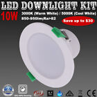 1/6PCSX10W DIMMABLE LED DOWNLIGHT KIT WARM/ COOL WHITE LIGHT FIVE YEAR WARRANYT