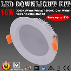1X6X 16W LED Downlight Kits Dimmable Warm/ Cool White Lights Cutout120mm IP44