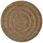Decorative Grey Crochet Style Circle Rug Round Rug 200 x 200cm Free Delivery