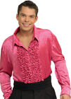Adult Male Velvet Disco Shirt Pink Rubies 7678