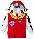 Toddler Red Animal TV Show Nickelodeon Paw Patrol Marchall Dog Costume Hoodie