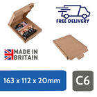 Royal Mail Large Letter C6 / A6 Size, 23g Postal Mailing Box  163 x 112 x 20 mm