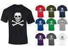 Mens Skull and Crossbones Pirate Skeleton T-shirt S-XXL