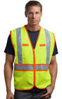 CornerStone Men's Polyester Zippered Safety Workwear Vest Jacket. CSV407