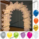 "90"" WHITE METAL ARCH +144 pc BALLOON Wedding Party Prom Garden Floral Decoration"