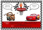 Personalised Party Invites Cars Inspired - All Occassions (various designs)