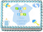 BABY BOY SUIT Baby shower Image Edible cake topper decoration