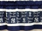"New York Yankees MLB Baseball Pieced Valance Panel Choose: 40"", 52"", 80"" x 13"" on Ebay"