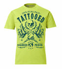 RETRO TATTOO GUN VINTAGE T-SHIRT TRILLEST TATTOOED SCARRED & PROUD LIME