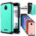 Hybrid Rugged Armor Protective Cover Case for Alcatel Ideal 4G LTE/ Dawn 5027B