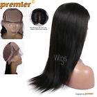 Light Yaki Lace Front Wig 4*4 Silk Base Remy Human Hair Silk Top Lace Full Wig