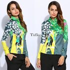 New Fashion Women Casual Turn-Down Blouse Long Sleeve Blouse Shirt Tops Jumper