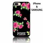 Girly Soft Rubber Gel phone case patterned pretty pink flowers victoria's secret