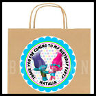 Trolls Movie Birthday Party Favor Bag STICKERS Personalized Labels Poppy Branch