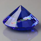 9 Colors Glass Crystal Diamond Shape Paperweights Facet Jewel Wedding Gift 30mm