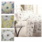 SIENNA Floral Duvet Quilt Cover Bedding Sets Single Double King - NEW LEMON
