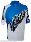 Viking Heritage Official Short Sleeve Full Zip Cycling Jersey Blue / White