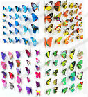 12pcs/48pcs 3d Butterfly Wall Art Decal Stickers Magnet Mural Home Decoration