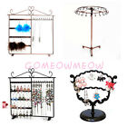Rotating Jewellery Display Metal Stand Earrings Necklace Hook Rack Holder Hanger