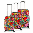Multi-Colour Flower Luggage PC Spinner Trolley Case 4Wheel Travel Suitcase Bags