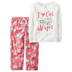 CARTER'S Girl's Pajamas Size 18 months I LOVE CAT NAPS Sleep Set PJs 2 Piece NEW