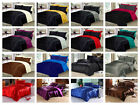 6PC SATIN BEDDING SET INCLUDES - SATIN FITTED SHEET DUVET COVER + 4 PILLOWCASES