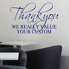 THANK YOU FOR YOUR CUSTOM Wall Art Sticker Transfer Shop Cafe Hairdressers Decal