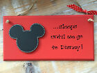 Personalised Disney Holiday Countdown Plaque Sign Mickey Mouse FREE GIFTWRAP
