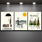 pictures for cartoons - Modern Wall Art Pictures Canvas Printing Home Decor for Room Cartoon City 3pc