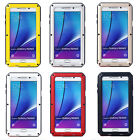 Aluminum Metal Shock/Water Proof Gorilla Glass Case For Samsung Galaxy Note 5