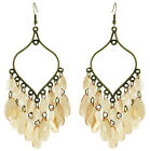 JC034 Wholesale Chandelier Earrings Sheer Tear Bead Leaf Chain You Pick Quantity