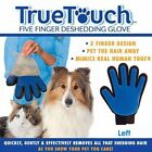 True Touch Massage Glove Deshedding Gentle Cat Dogs Bath Grooming Brush Left