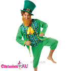 Mens Gents Green St Patricks Day Costume Irish Man Leprechaun Adults Outfits Hat