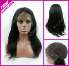 "New GLUELESS Full Lace Wig #0.12 Hard Lace 100% Human Hair Yaki Straight 12""-22"""