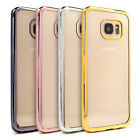 Soft Gel Clear Back Metallic Bumper Shockproof Case Cover Samsung Galaxy S7 Edge