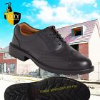 City Knights Leather Steel Toe Cap Brogue Safety Shoes Smart Office SS500CM