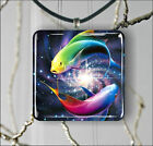 ASIAN ART COLORFUL FISH PENDANTS NECKLACE OR EARRINGS -scz4X