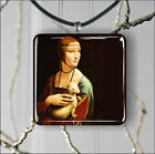 LADY WITH ERMINE BY LEONARDO DA VINCI PENDANT NECKLACE 3 SIZES CHOICE -jfe4Z