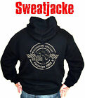 Biker Kapuzenjacke Thruxton V8 Chopper Hoodie Hot Rod Sweater Old School Gr. L